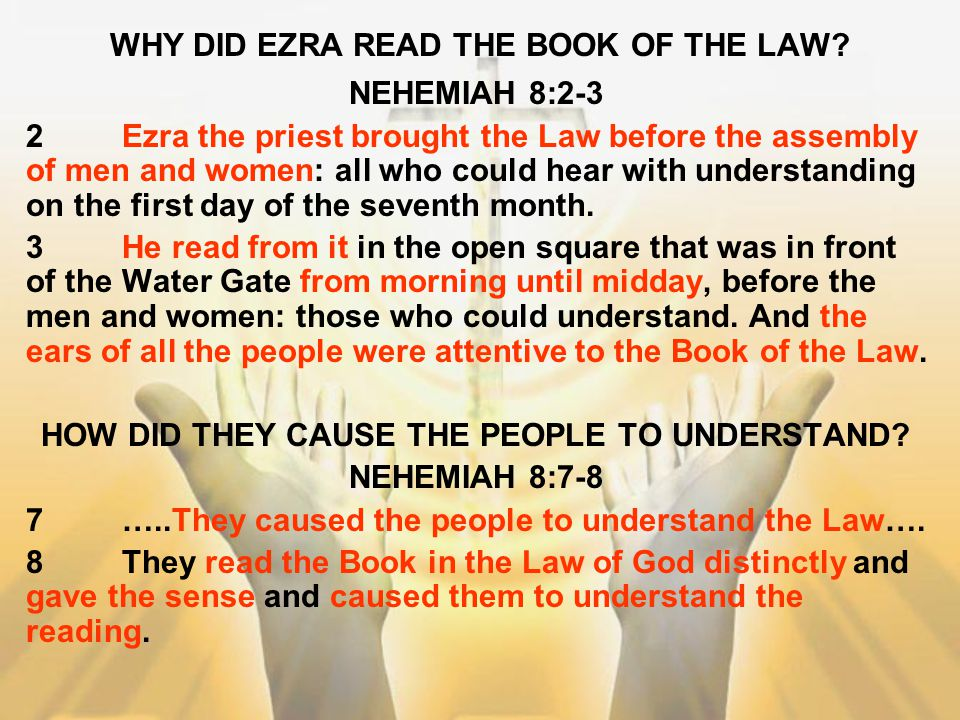 WHY DID EZRA READ THE BOOK OF THE LAW