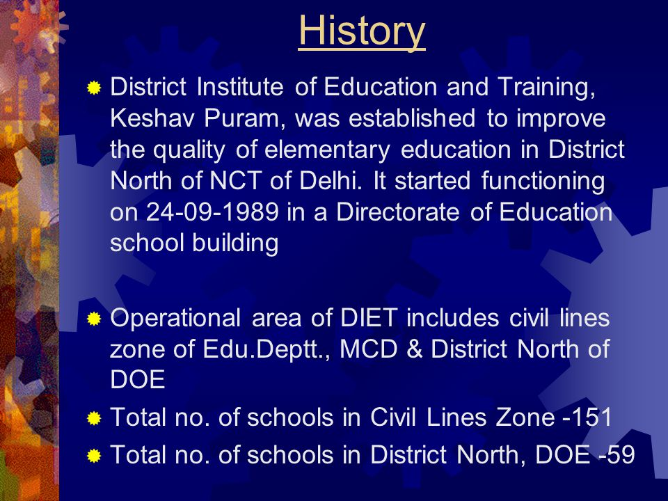 DISTRICT INSTITUTE OF EUCATION AND TRAINING, B-2, KESHAV