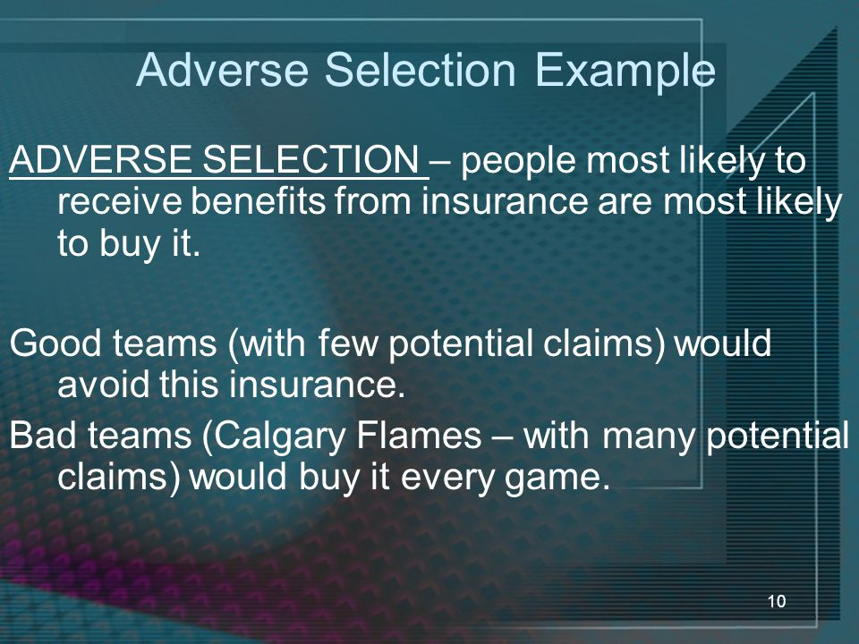 Adverse Selection Example