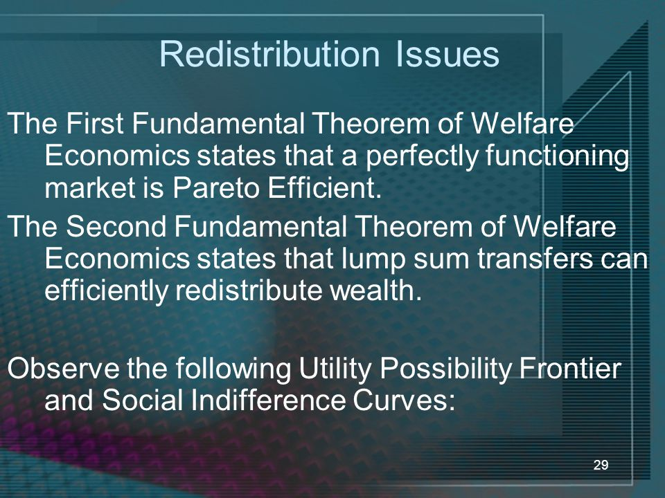 Redistribution Issues