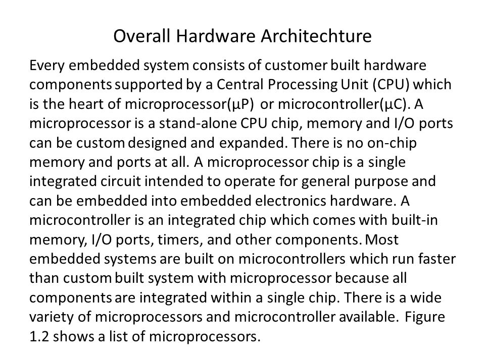 Overall Hardware Architechture