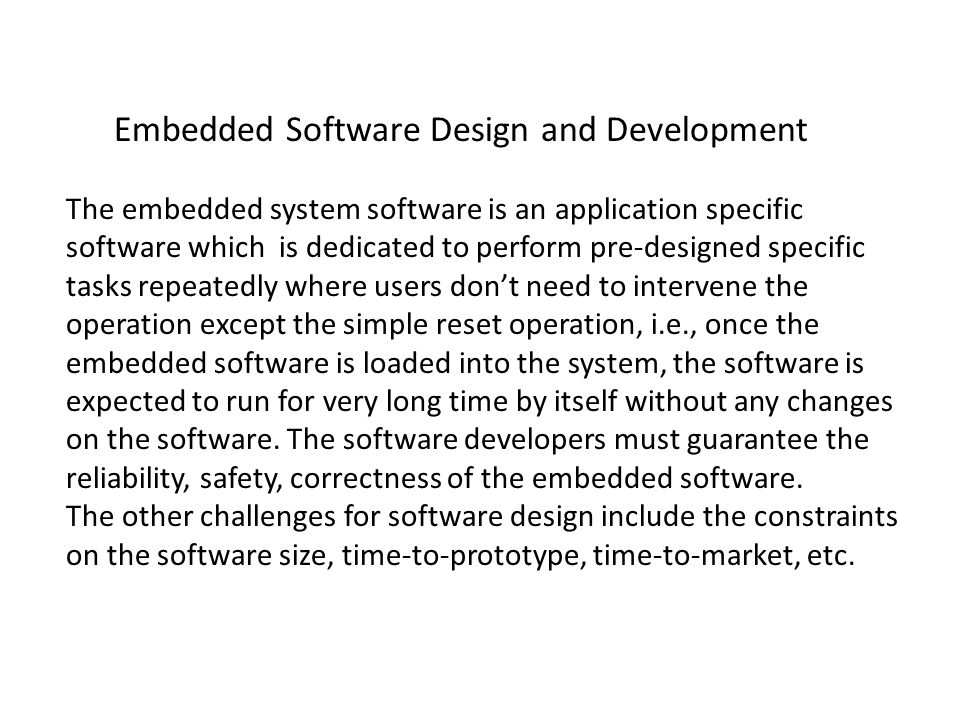 Embedded Software Design and Development