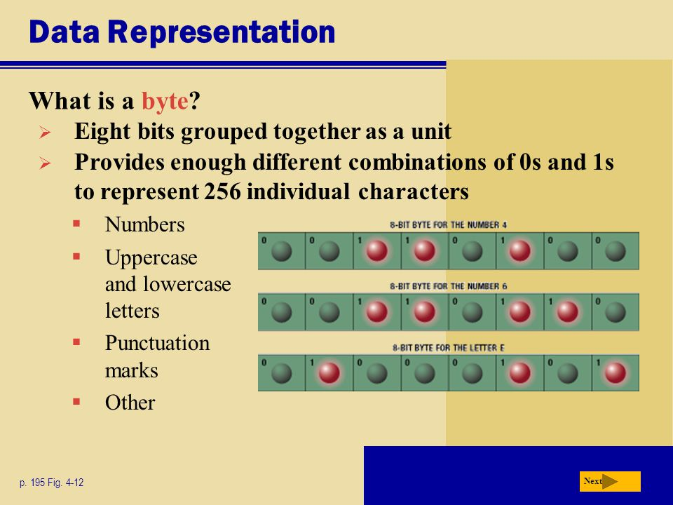 Data Representation What is a byte