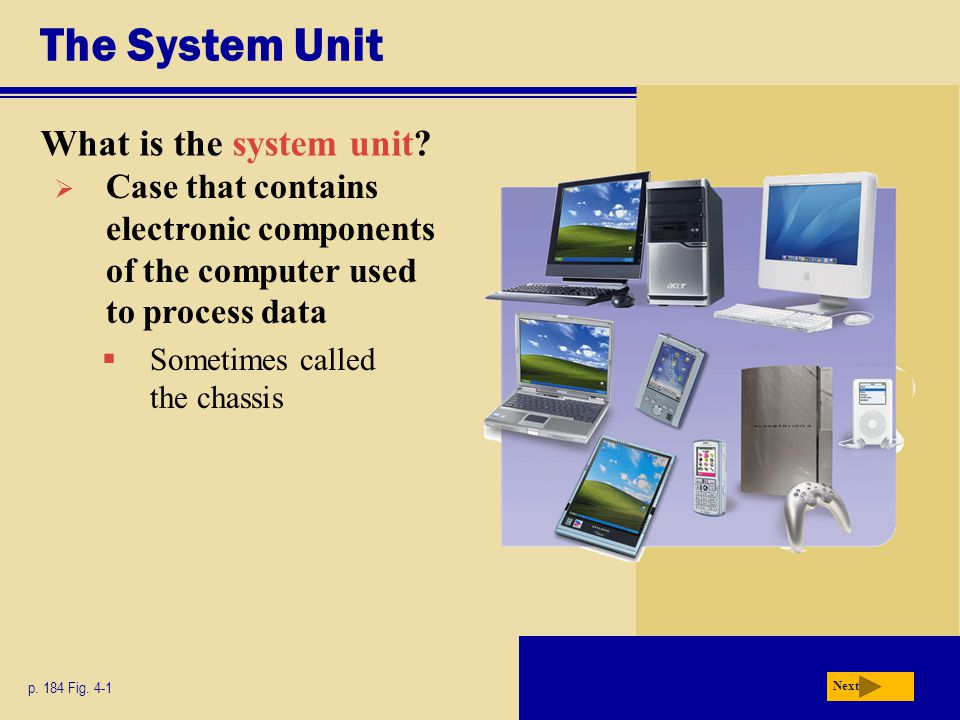 The System Unit What is the system unit