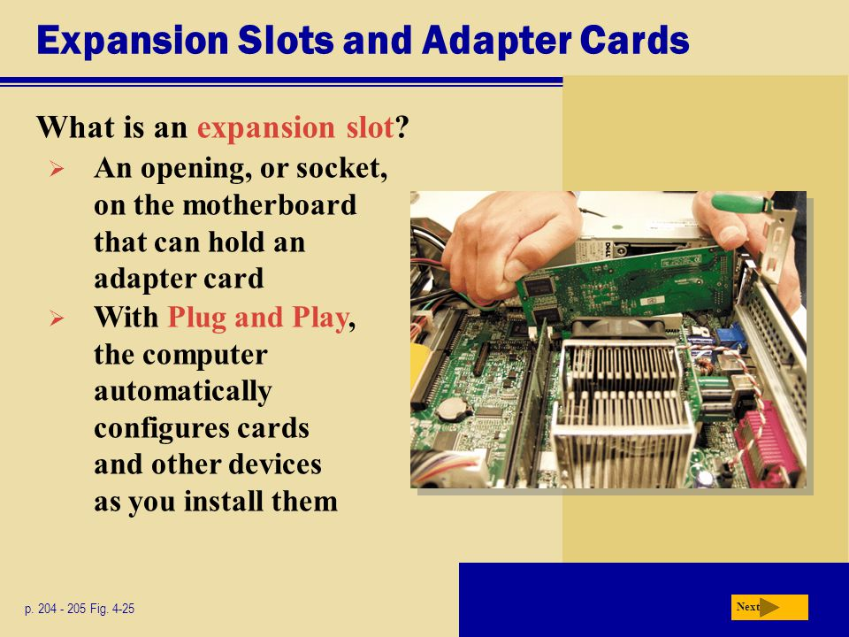 Expansion Slots and Adapter Cards