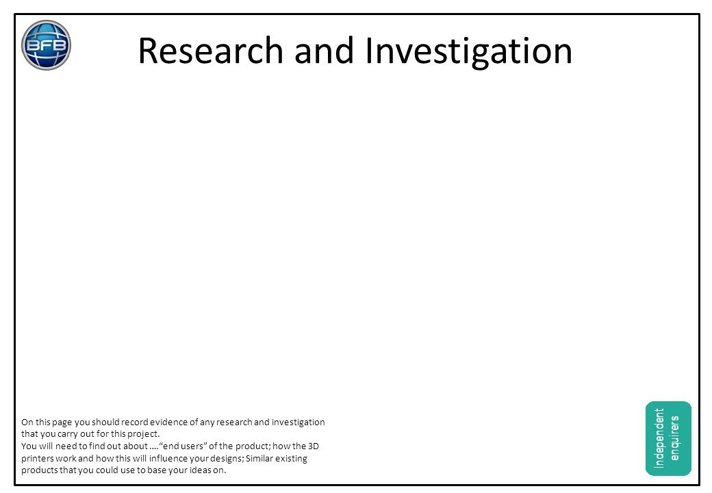 Research and Investigation
