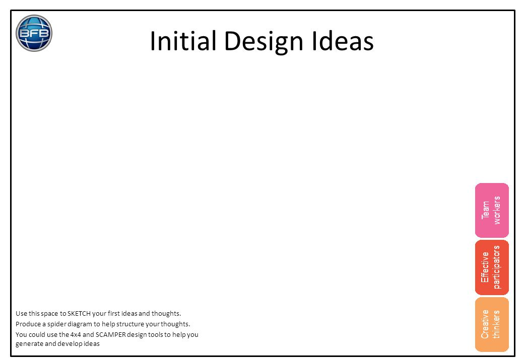 Initial Design Ideas