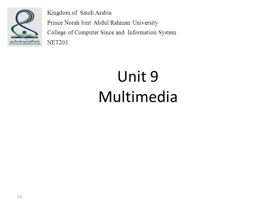 Unit 9 Multimedia Kingdom of Saudi Arabia
