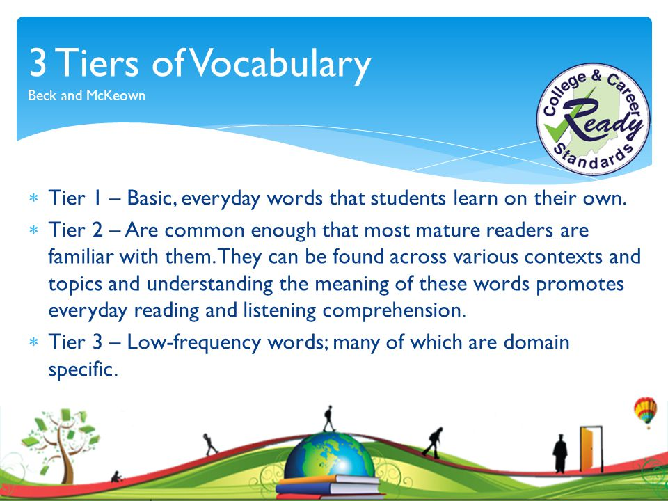 3 Tiers of Vocabulary Beck and McKeown