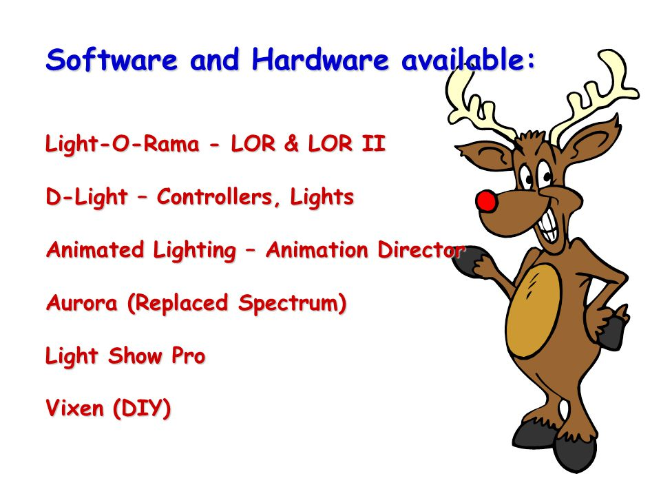 2 software and hardware available light o rama lor lor ii d light controllers lights animated lighting animation director aurora replaced