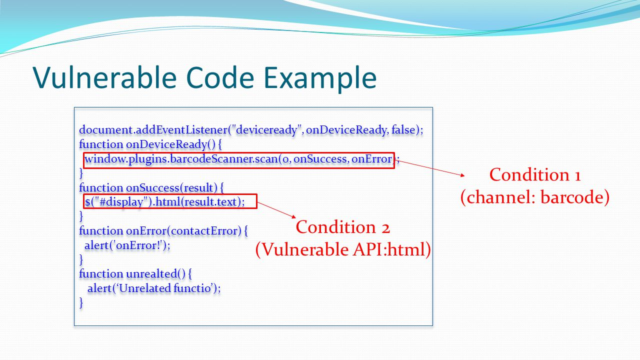 Vulnerable Code Example