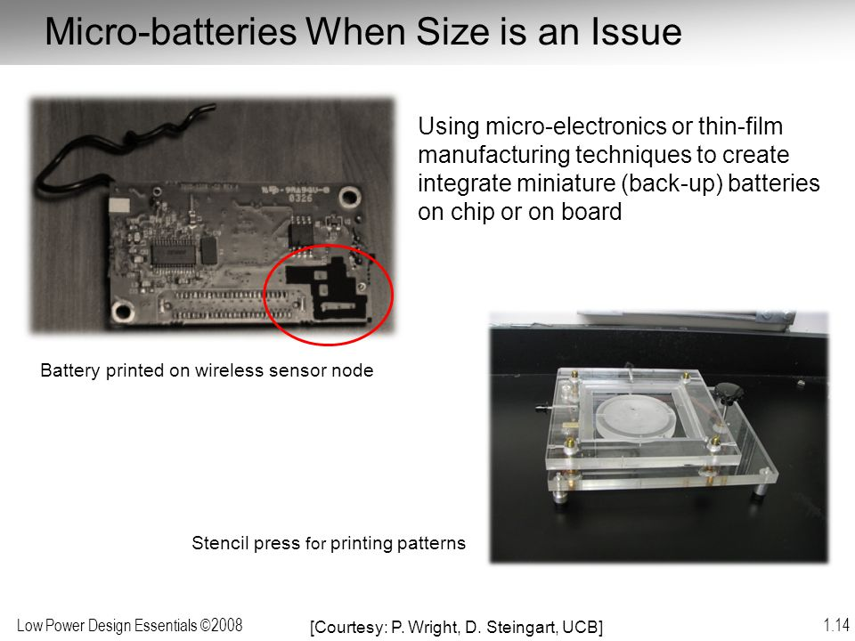 Micro-batteries When Size is an Issue