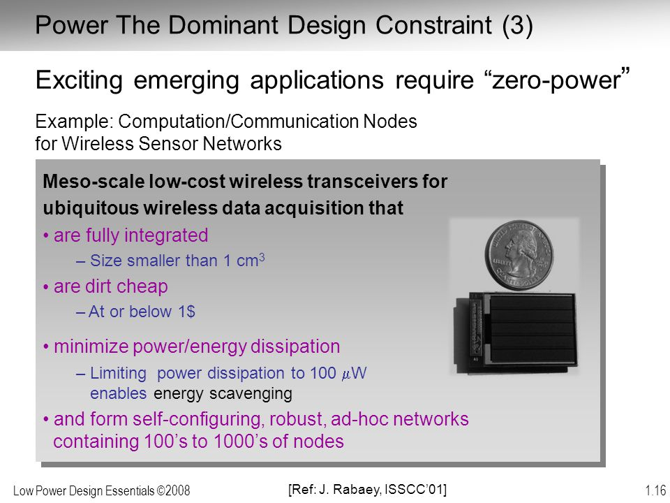 Power The Dominant Design Constraint (3)