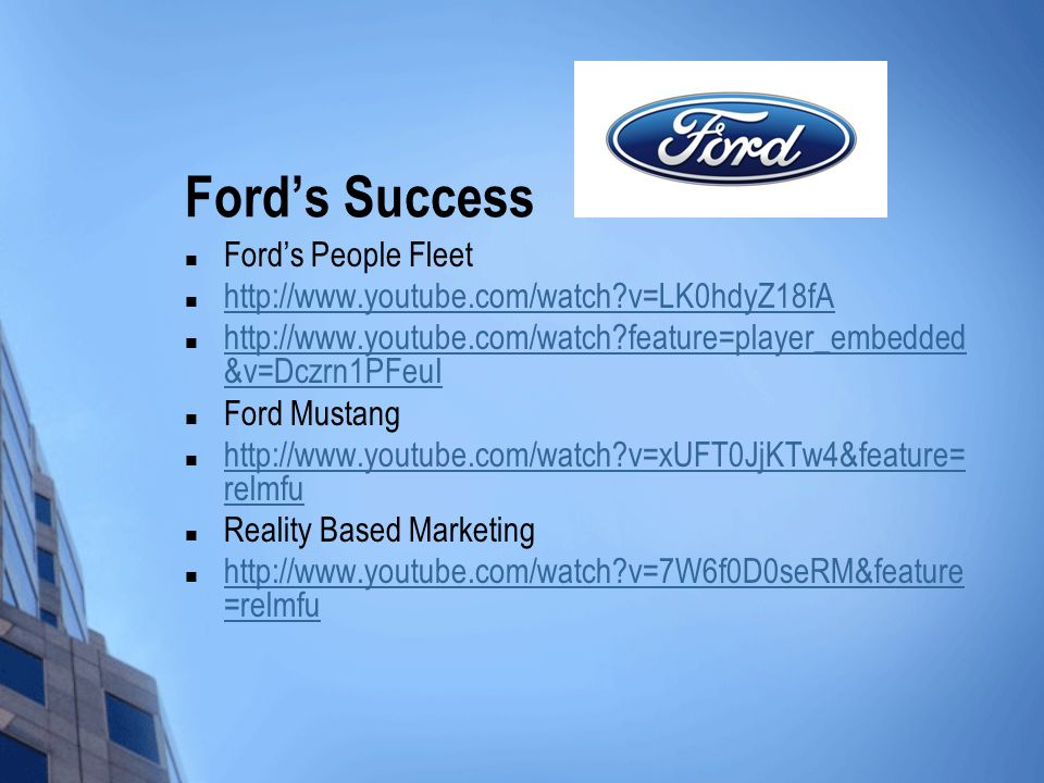 Ford's Success Ford's People Fleet