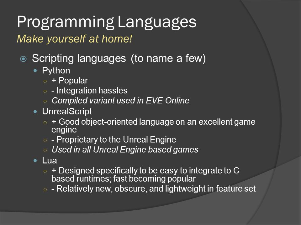 A Perusal of Game Engines and APIs - ppt download