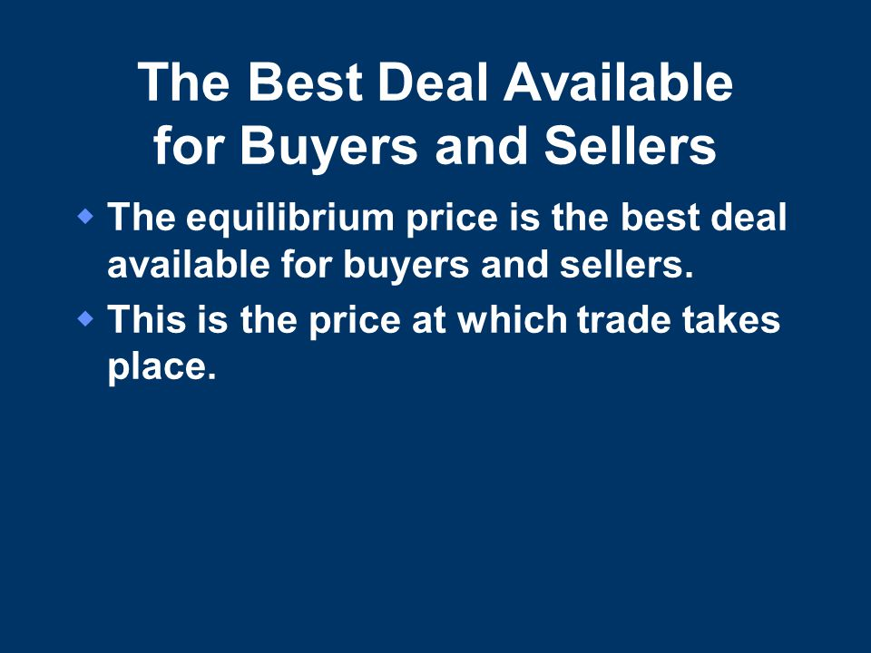 The Best Deal Available for Buyers and Sellers