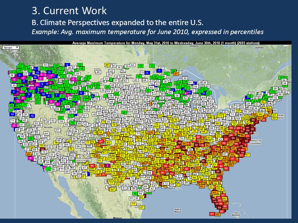 3. Current Work B. Climate Perspectives expanded to the entire U.S.