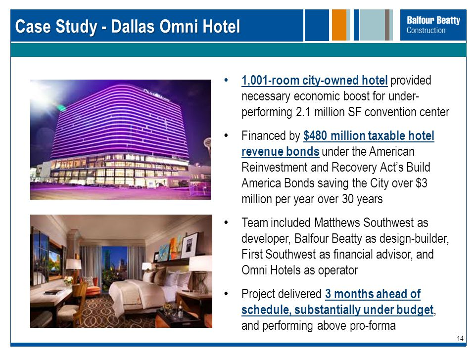 Case Study - Dallas Omni Hotel