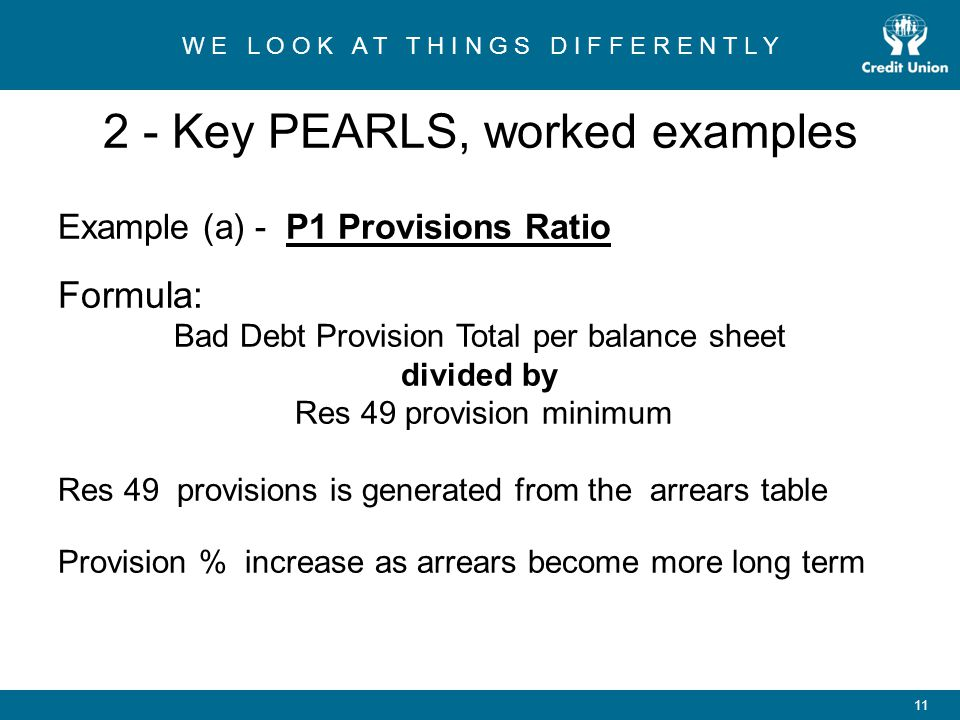 2 - Key PEARLS, worked examples