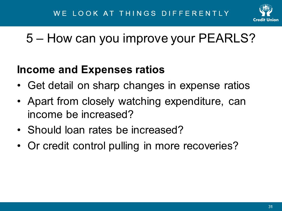 5 – How can you improve your PEARLS