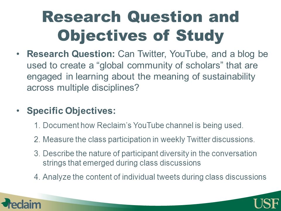 Research Question and Objectives of Study