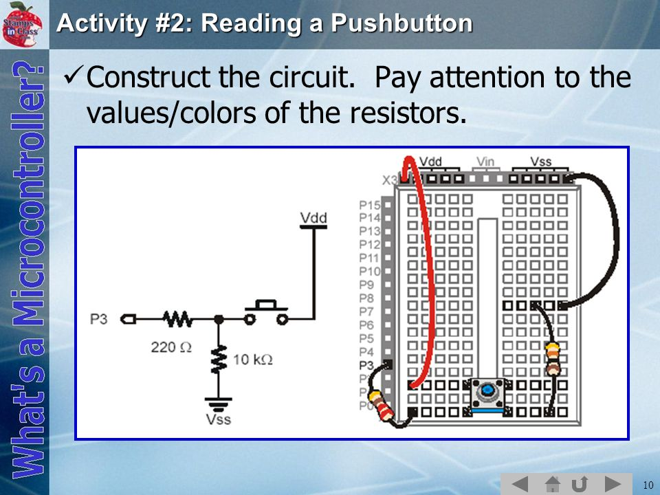 Activity #2: Reading a Pushbutton