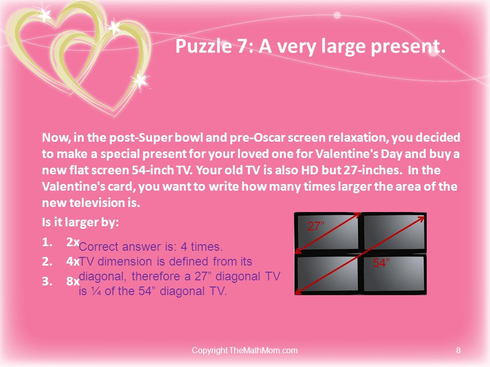 Puzzle 7: A very large present.
