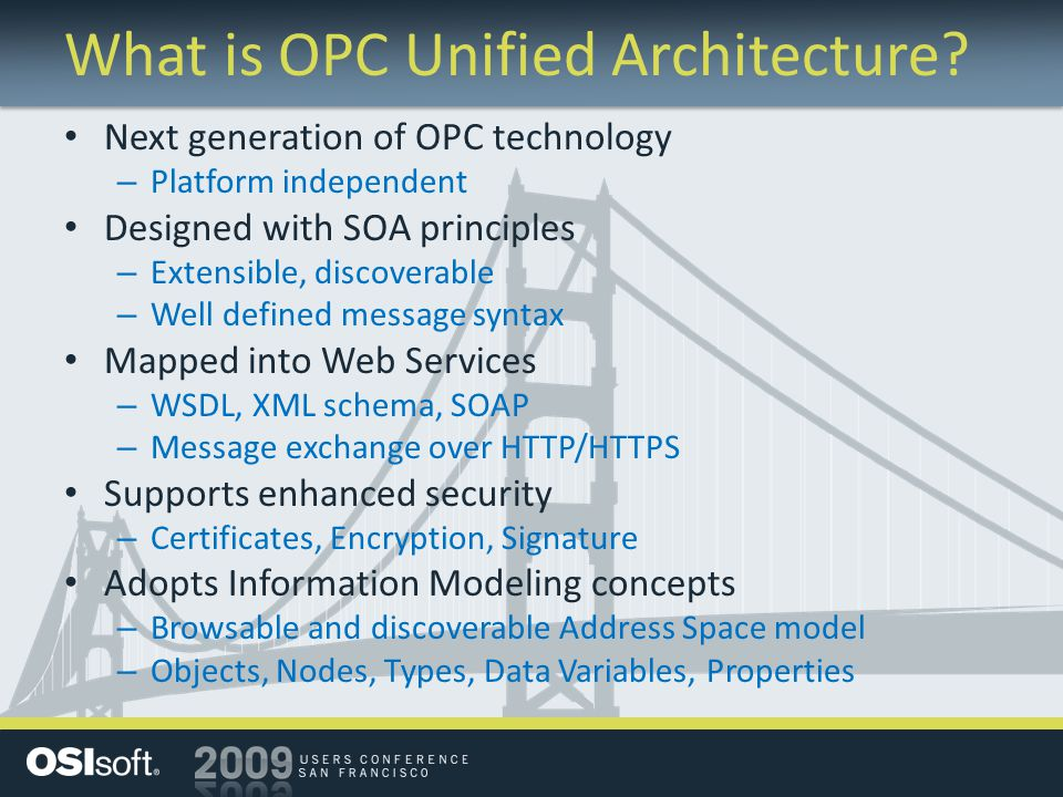 What is OPC Unified Architecture