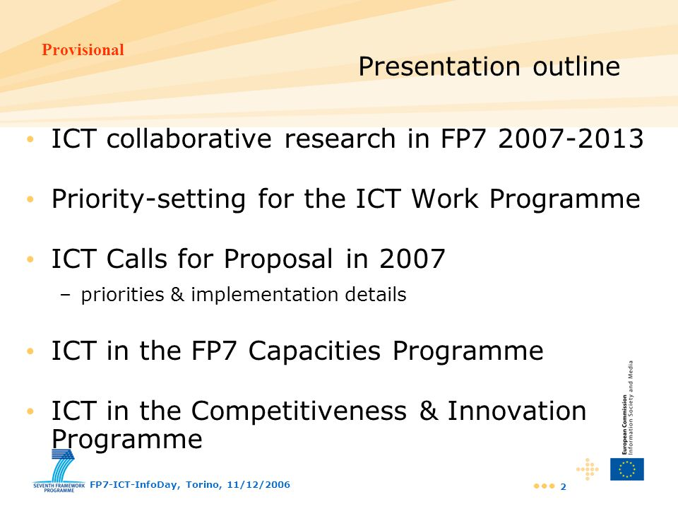 ICT collaborative research in FP7 2007-2013