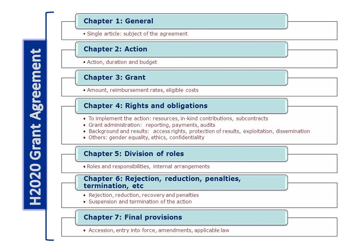 H2020 Grant Agreement Chapter 1: General Chapter 2: Action