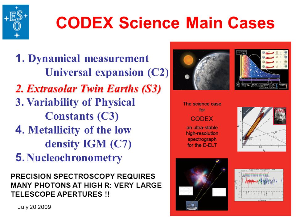 CODEX Science Main Cases
