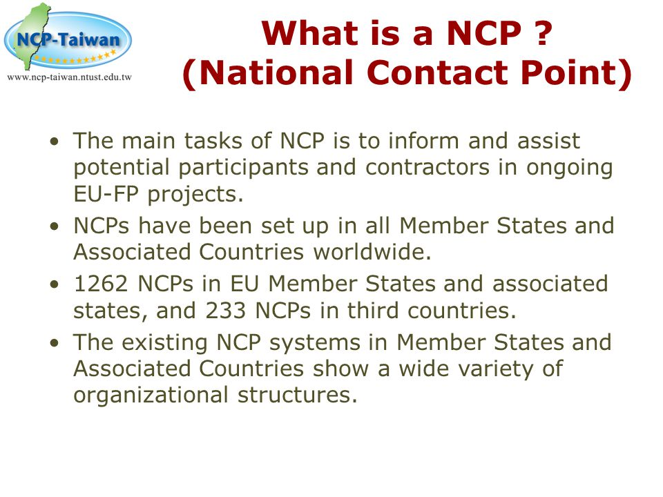 What is a NCP (National Contact Point)