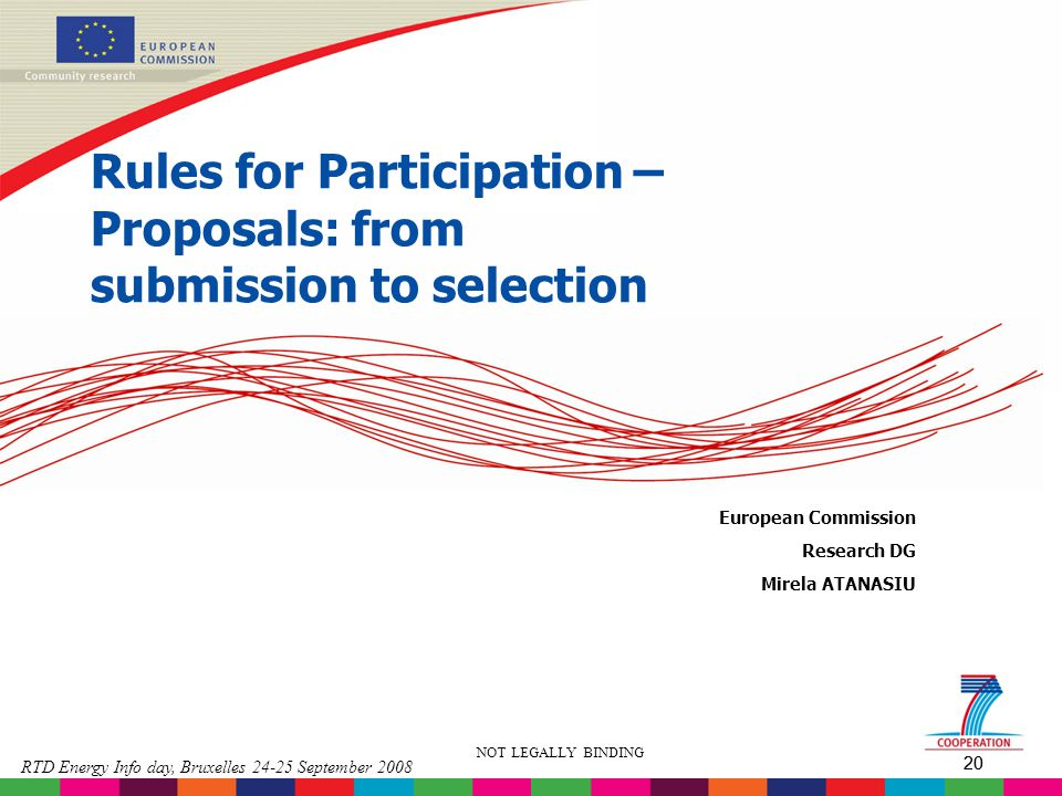 Rules for Participation – Proposals: from submission to selection