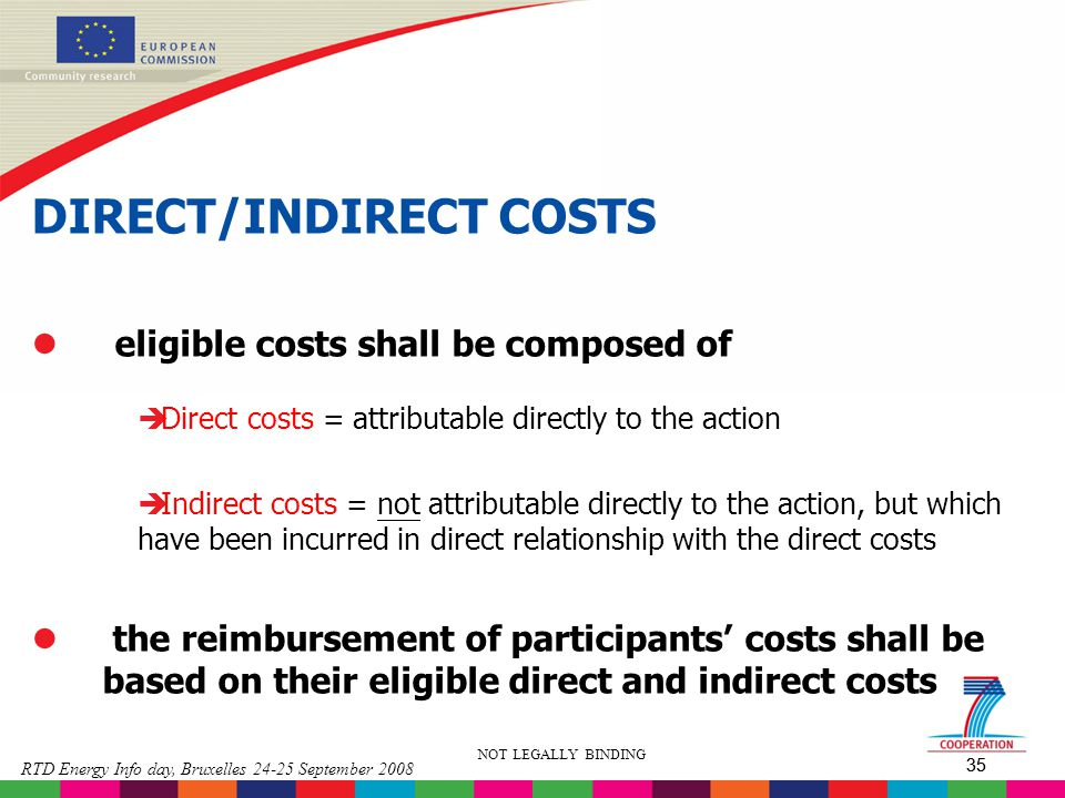 DIRECT/INDIRECT COSTS