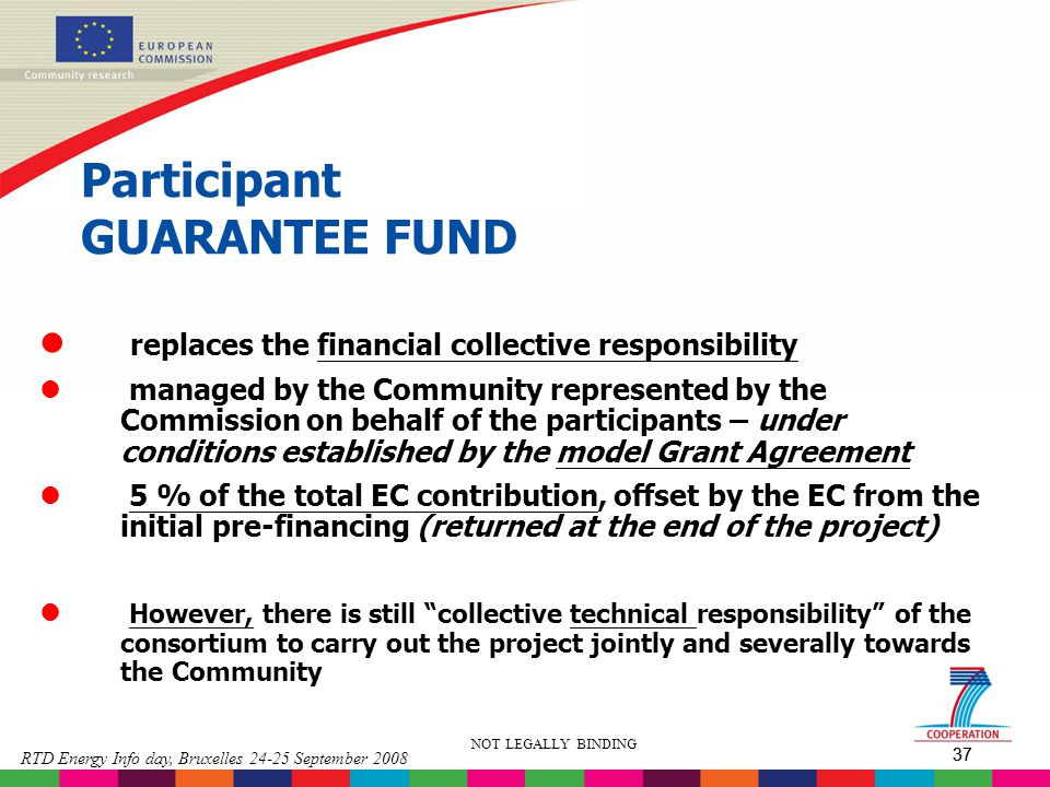 Participant GUARANTEE FUND
