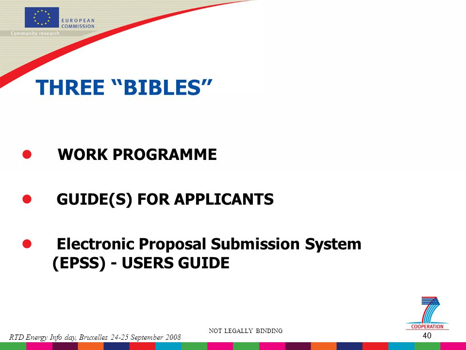 THREE BIBLES WORK PROGRAMME GUIDE(S) FOR APPLICANTS