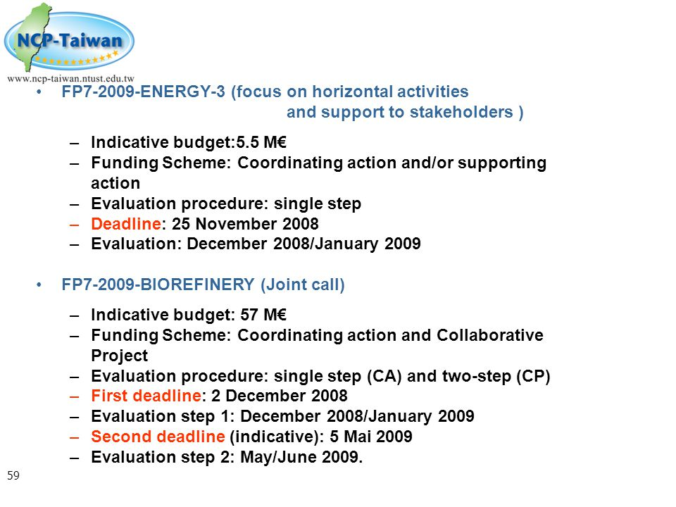 Funding Scheme: Coordinating action and/or supporting action
