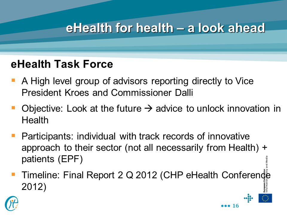 eHealth for health – a look ahead