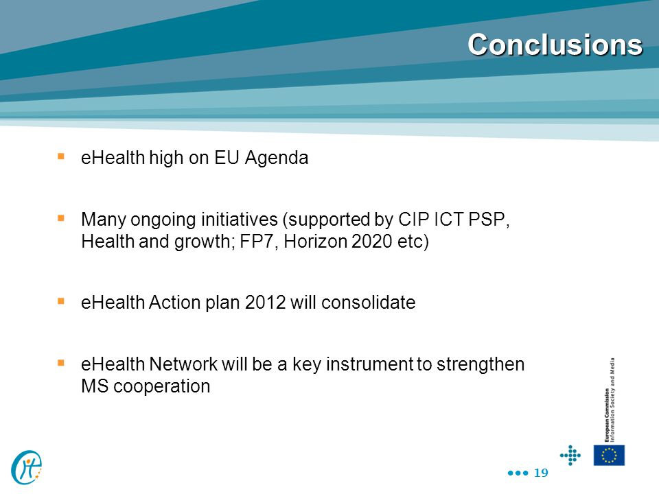 Conclusions eHealth high on EU Agenda