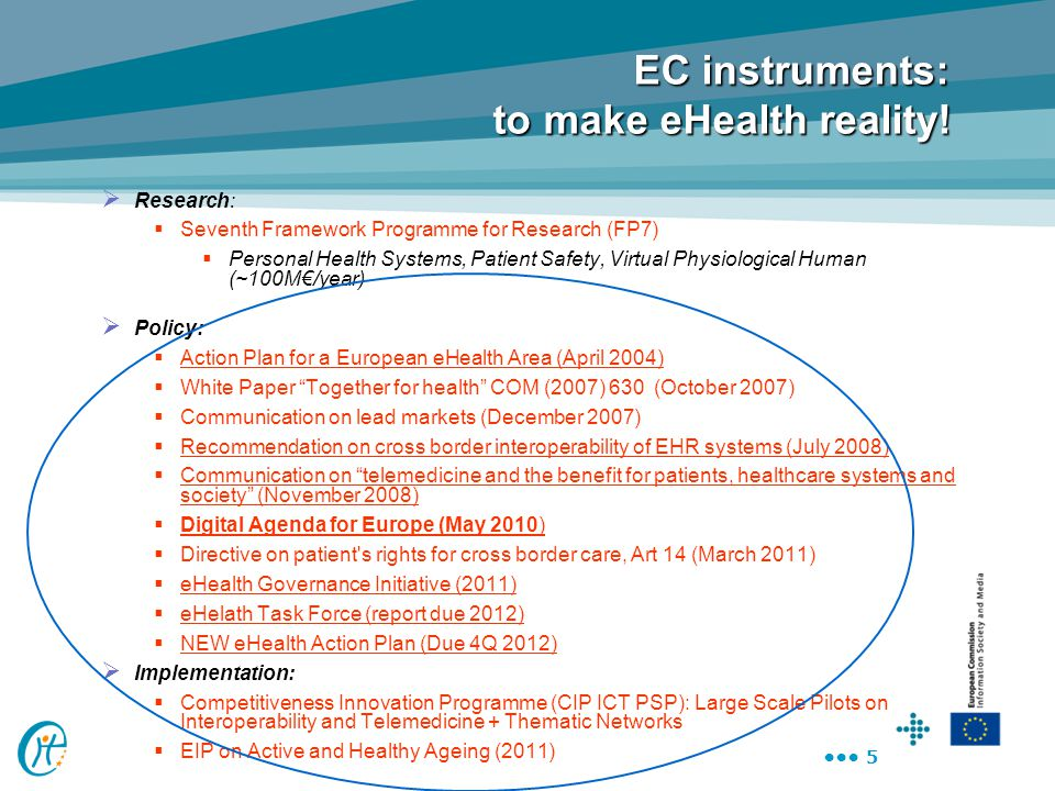 EC instruments: to make eHealth reality!