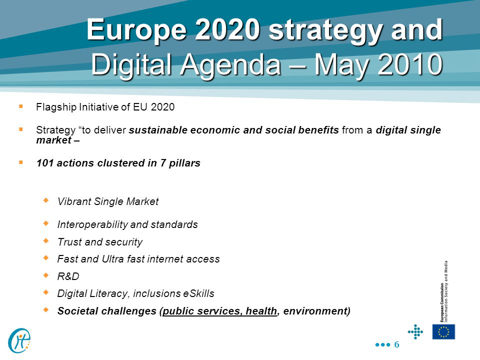 Europe 2020 strategy and Digital Agenda – May 2010