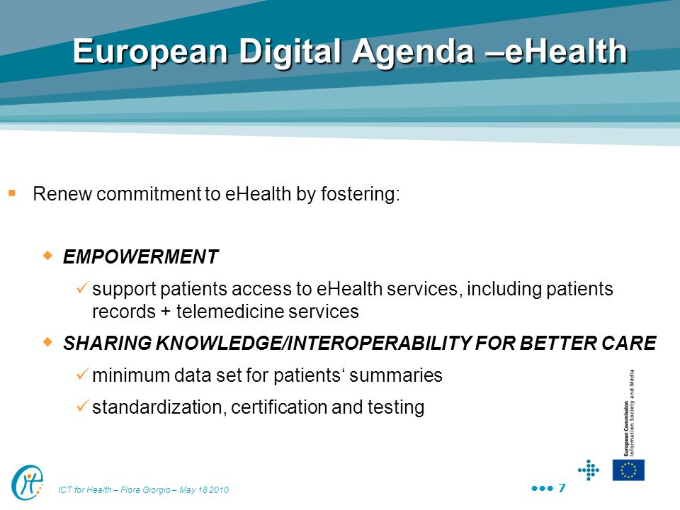 European Digital Agenda –eHealth