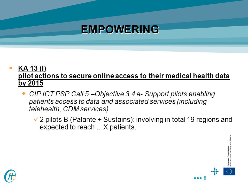 EMPOWERING KA 13 (I) pilot actions to secure online access to their medical health data by