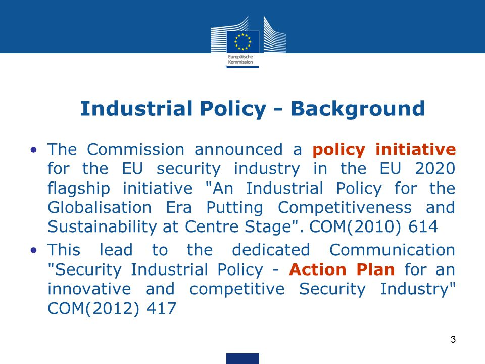 Industrial Policy - Background