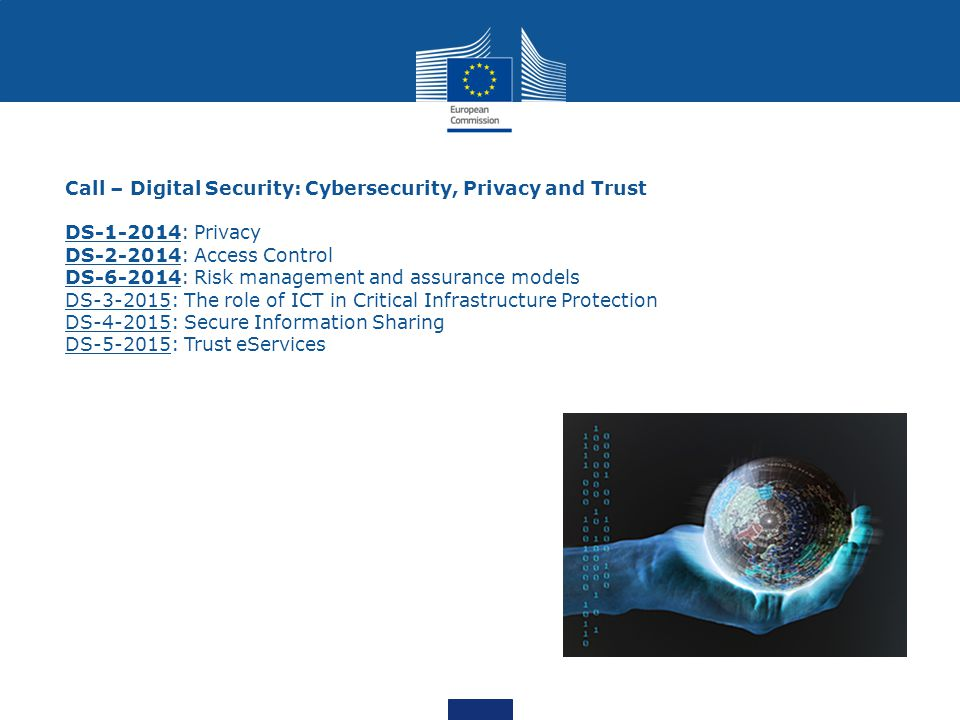 Call – Digital Security: Cybersecurity, Privacy and Trust