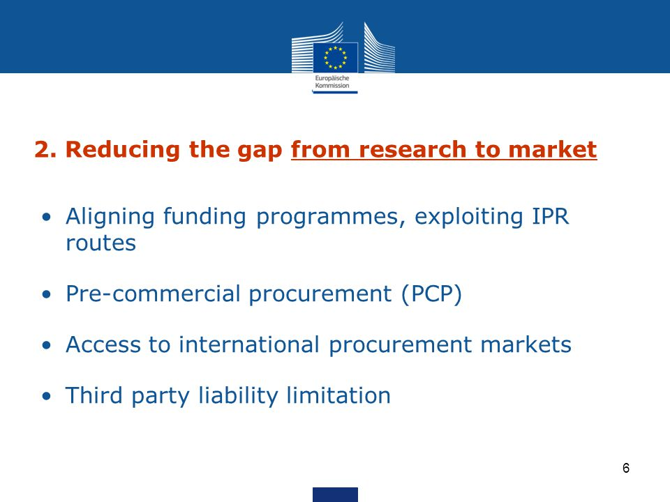 2. Reducing the gap from research to market