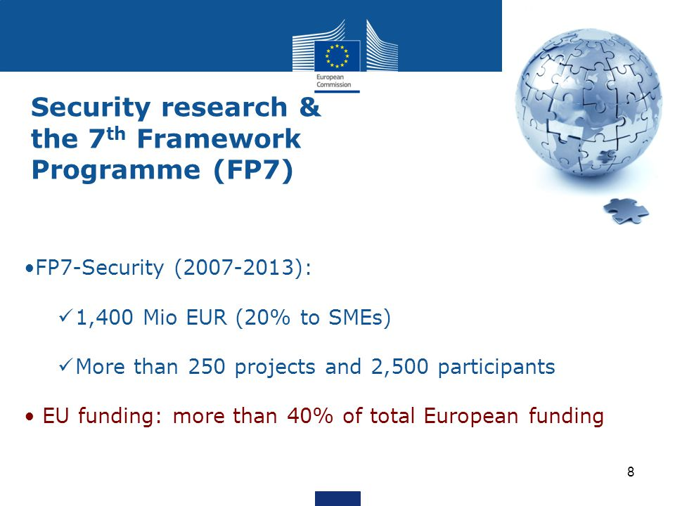 Security research & the 7th Framework Programme (FP7)