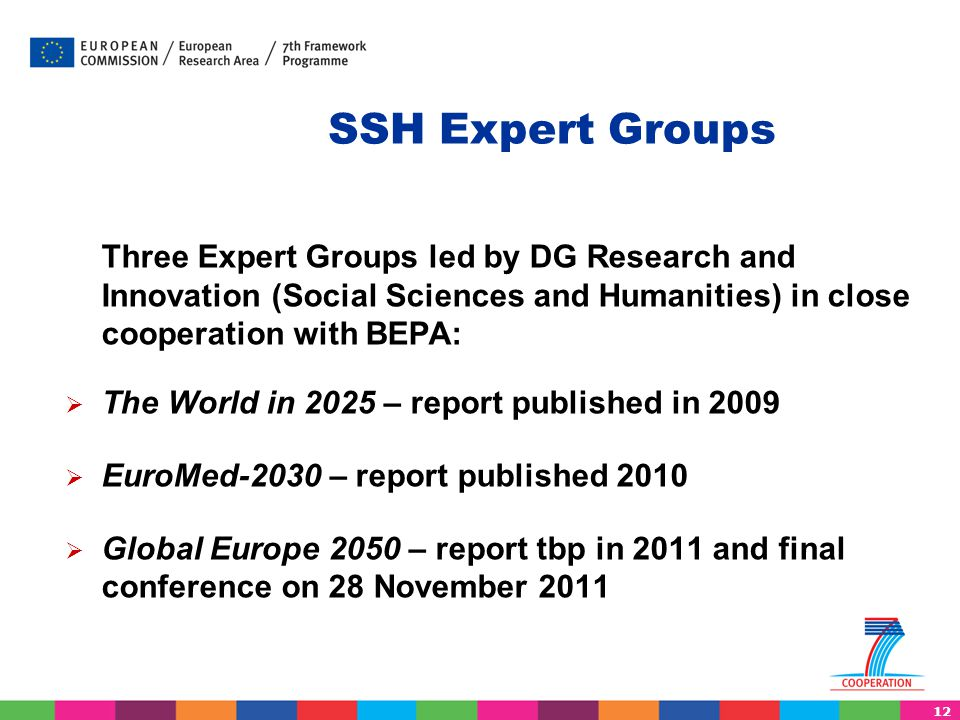 SSH Expert Groups The World in 2025 – report published in 2009