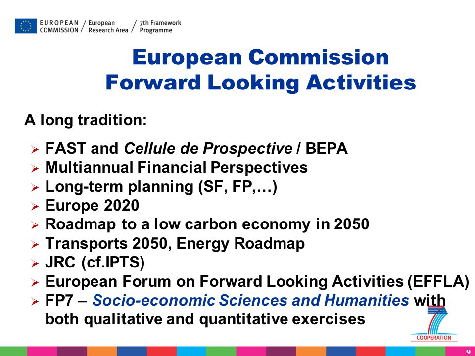 European Commission Forward Looking Activities