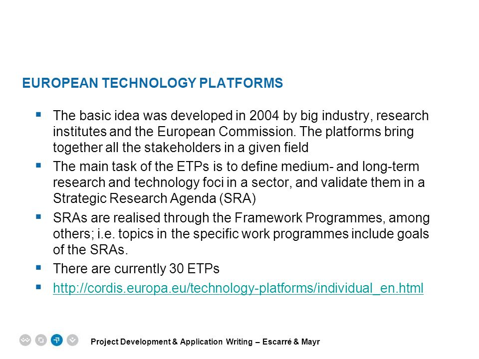 European Technology Platforms